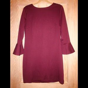Burgandy sheath dress